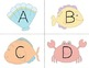 Letter Identification Matching Game {Sea Life}