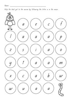 Letter Identification Mazes