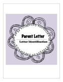 Letter Identification Parent Letter