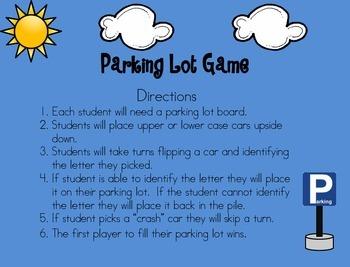 Letter Identification: Parking Lot Game
