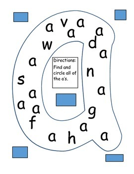 Letter Identification Practice (Lower Case)