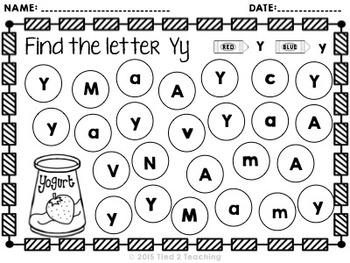 Letter Identification Printables