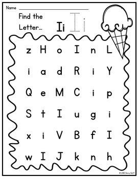 Letter Recognition Search and Stamp