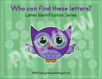 Letter Identification Series - Owl Themed