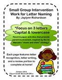 Letter Identification Small Group Practice Worksheets