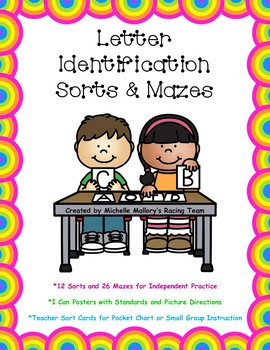 Letter Identification Sorts and Mazes with Handwriting Practice