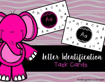 Letter Identification - Task Cards