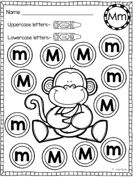 Letter Identification - Uppercase and Lowercase Letters