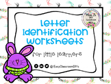 Letter Identification Worksheets for Little Learners!