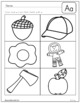 Letter Identification and Beginning Sounds Practice Sheets
