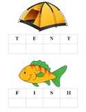 Letter Identification and Formation Activity - Camping Theme