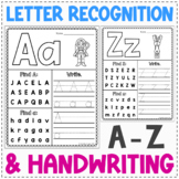 Letter Recognition and Handwriting Worksheets   Alphabet Review