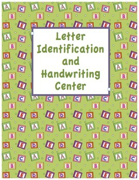 Letter Identification and Handwriting set