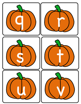 Letter Identification and Matching -Pumpkins