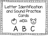 Letter Identification and Sound Practice Cards