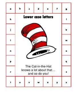 Letter ID/Matching Activity - Cat-in-the-Hat