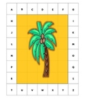Letter ID/Matching Activity - Coconut Tree