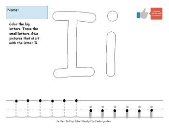 Letter Ii- A Week of Pre-K Practice Activities