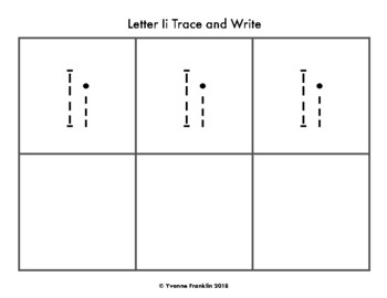 Letter Ii Color, Trace & Write the Room
