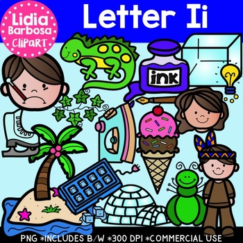 Letter Ii Digital Clipart