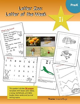 Letter Ii (I is for Insects and Bugs): Letter Zoo- Preschool Curriculum