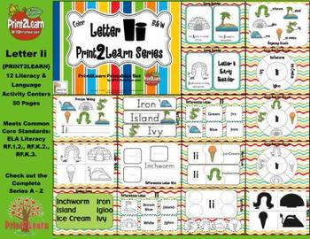 Letter Ii Language & Literacy Activity Center {COMMON CORE ALIGNED}
