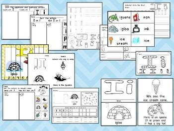 Letter Ii Mega Pack- Kindergarten Alphabet- Handwriting, Little Books, and MORE!