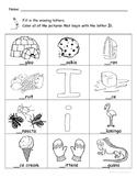 Letter Ii Words Coloring Worksheet