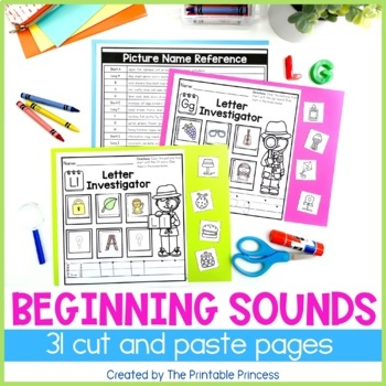 Beginning Sounds Practice Pages