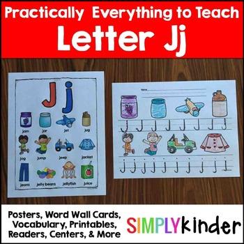 Letter J | Alphabet Printables and Centers
