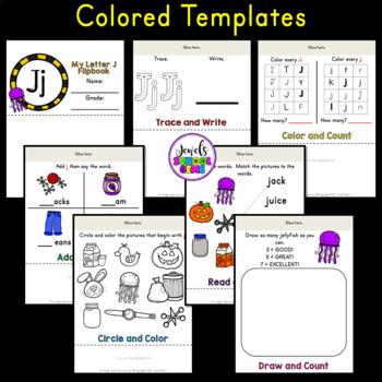 Letter J Alphabet Flip Book (Alphabet Interactive Notebook Activities)