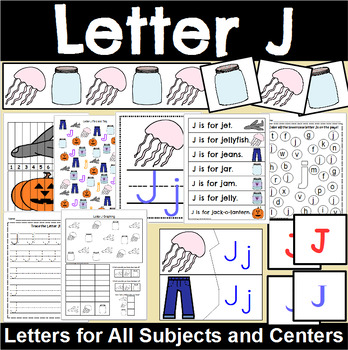 Letter J Activity and Center Packet
