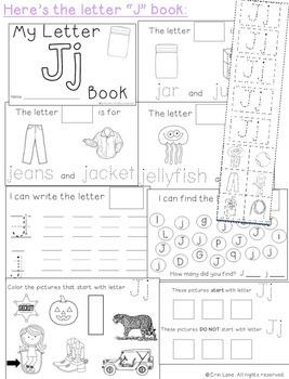 Letter J: Alphabet Activity Book