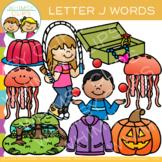 Letter J Clip Art {Alphabet Beginning Sounds Clip Art}