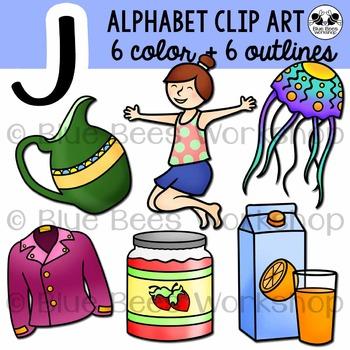 Letter J Clip Art Alphabet / Beginning Sound J