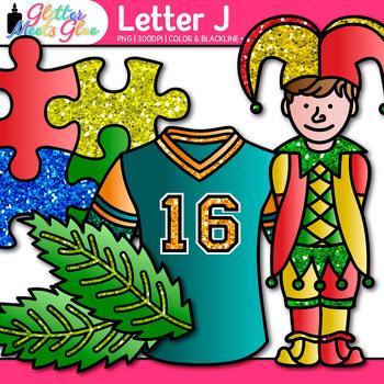 Letter J Alphabet Clip Art {Teach Phonics, Recognition, and Identification}