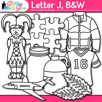 Letter J Alphabet Clip Art {Teach Phonics, Recognition, an