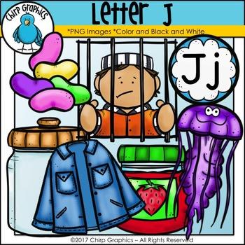 Letter J Alphabet Clip Art Set - Chirp Graphics