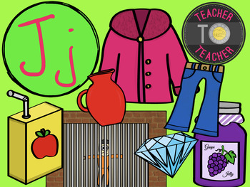 Letter J - Alphabet Clipart {TeacherToTeacher Clipart}