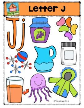 Letter J Alphabet Pictures {P4 Clips Trioriginals Digital Clip Art}