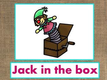 Letter J Alphabet PowerPoint Fun & Colorful Words w/Pictures (Expandable)