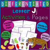 Letter J Unit - Differentiated Letter Writing Pages and Ac