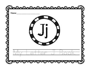 Letter J Book: Handwriting Practice