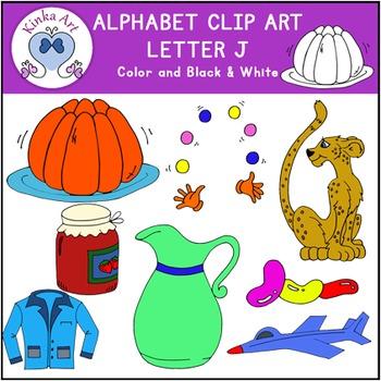Letter J Clip Art {Beginning Sounds} Alphabet