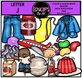 Letter J Clip Art Bundle {Educlips Clipart}