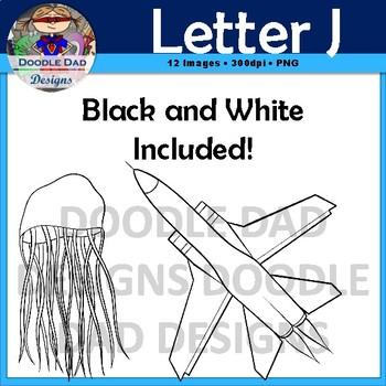 Letter J Clip Art (Jump Rope, Jacket, Jeans, Jellyfish, Jar, Jet)