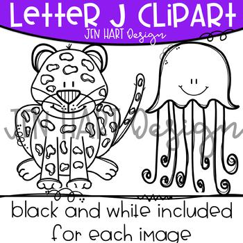 Letter J Clipart - Beginning Sound Clip Art {Jen Hart Clipart}