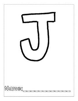 Letter J Color and Trace AlphaBook by Kelly Chenin | TpT