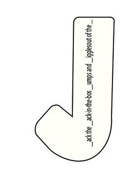 Letter J Craft