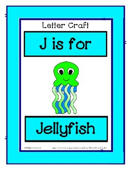 Letter J Craftivity - Jellyfish - Zoo Phonics Inspired - Color & BW Versions